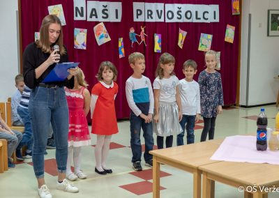 Sprejem prvošolcev v šolsko skupnost P - OŠ Veržej 15